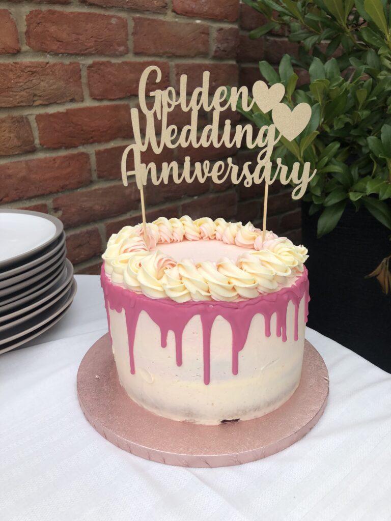 Cake, Baking, Home baking, Golden Wedding, Wedding anniversary, Silent Sunday, My Sunday Photo