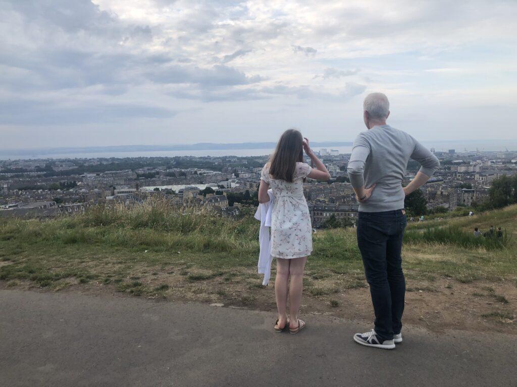 Calton Hill, Husband, Daughter, Edinburgh, Scotland, City break, Holiday