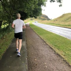 My husband, my running buddy